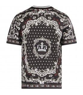 Black boy T-shirt with prints and crown
