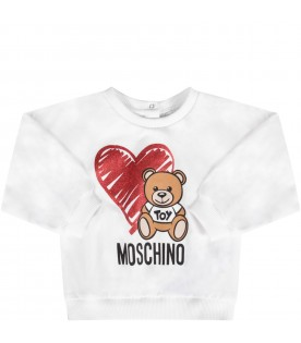 White and red babygirl tracksuit with Teddy Bear and heart