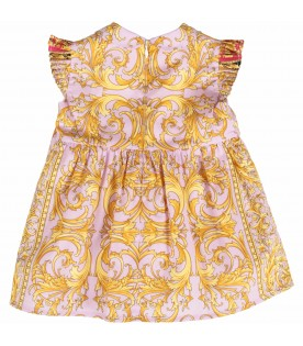 Lilac and white babygirl dress with iconic medusa