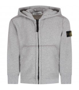 Grey boy sweatshirt with iconic patch