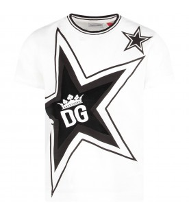 White boy T-shirt with iconic star and logo