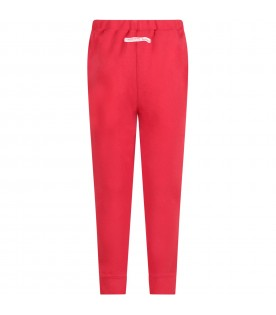 Red kids pants with red logo