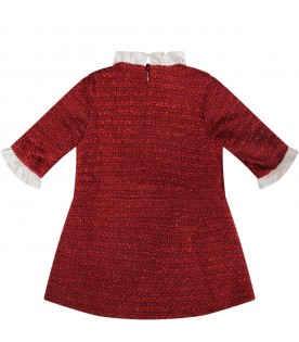 Red girl dress with iconic star
