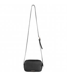 Black girl bag with colorful logo