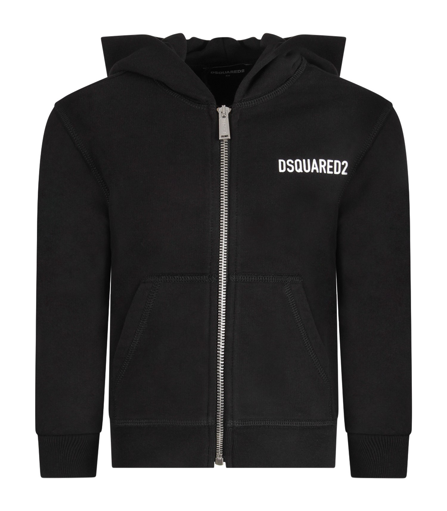 Dsquared2 Black kids sweatshirt with white logo