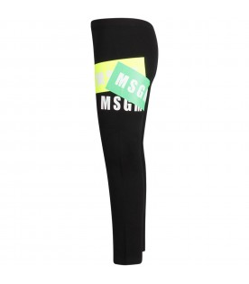 Black leggings with logo for girl
