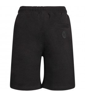 Black kids short with white logo