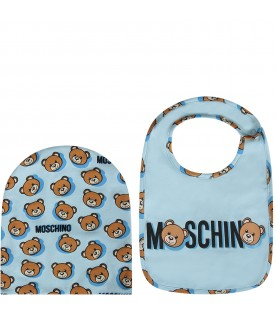 Light blue babyboy set with Teddy Bear