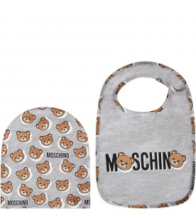 Grey babykids set with Teddy Bear