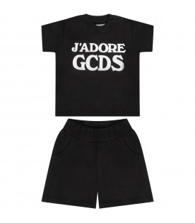 Black babygirl suit with white logo