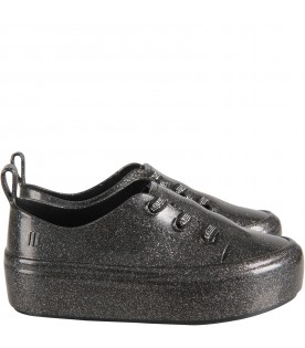 Black girl lurex shoes