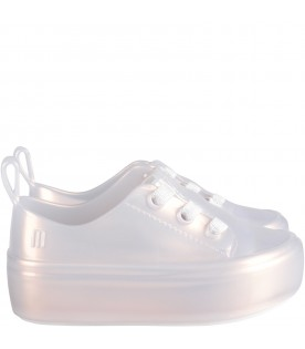 Pearly white girl shoes