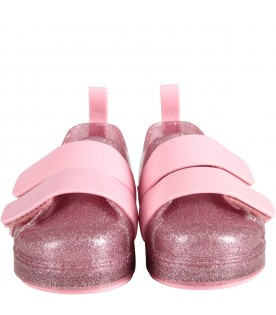 Pink girl lurex shoes