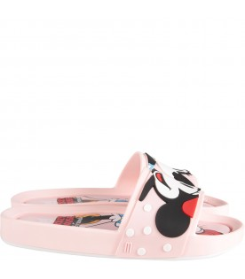 Pink girl sandals with Minnie