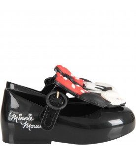 Black girl ballerina flats with Minnie