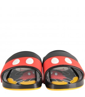 Multicolor kids sandals with Mickey Mouse
