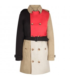 Multicolor trench coat for girl