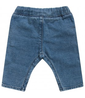 Light blue babykids jeans with white logo
