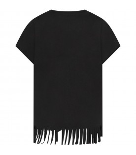 Black girl T-shirt with silver zebras and logo
