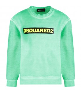 Neon green kids sweatshirt with logo