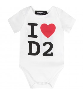 White babykids body with logo and heart