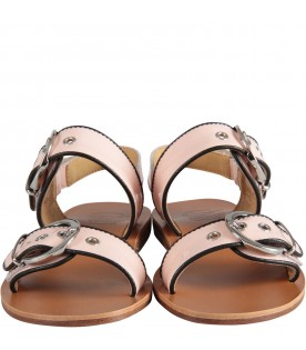 Pink gil sandals