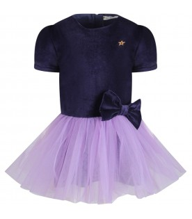 Purple girl dress with iconic star