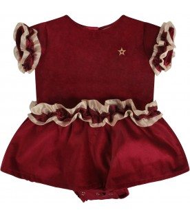 Red babygirl dress with iconic star