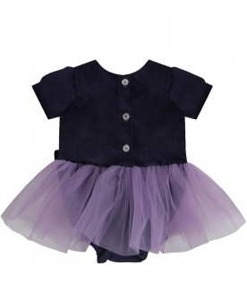 Purple babygirl dress with iconic star