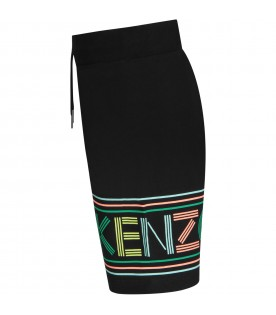 Black girl short with colorful logo