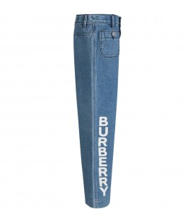 Light blue girl Jeans with white logo