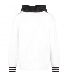 White kids sweatshirt with black double FF