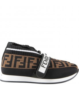 Black sneakers with FF for kids