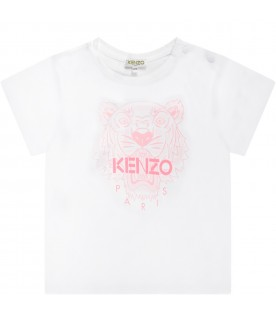 White girl T-shirt with pink tiger