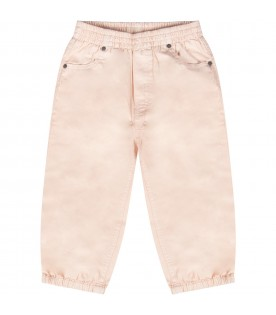 Pink babygirl pants with colorful mermaids