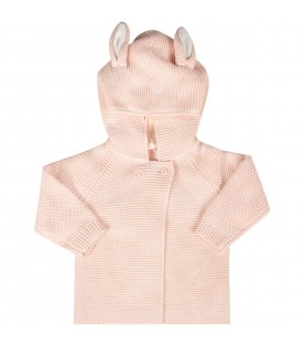 Pink babygirl jacket with ears