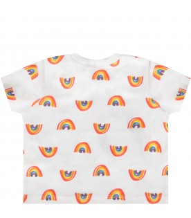 Ivory babykids t-shirt with colorful rainbows