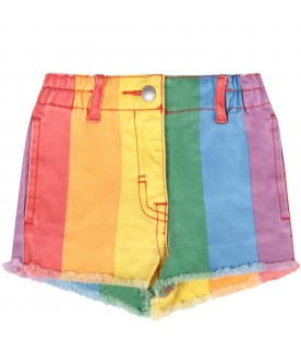 Colorful babygirl short with stripes