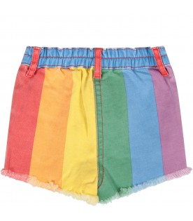Colorful short with stripes for baby girl