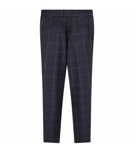 Blue boy pants with checks