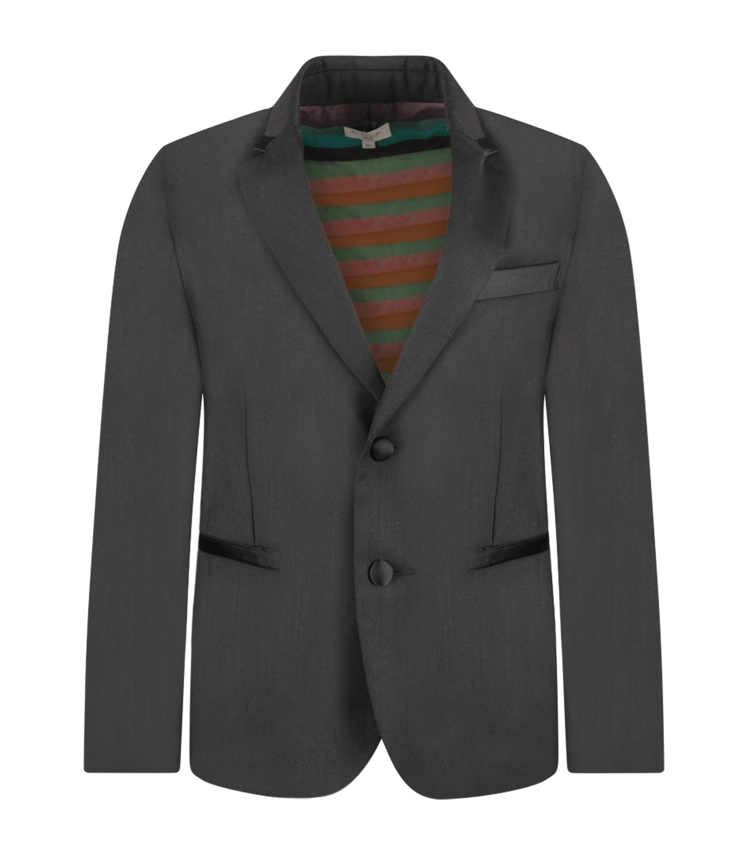 Paul Smith Junior Black boy jacket with satin details