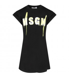 Black girl dress with double logo