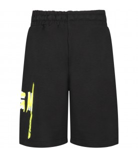 Black kids short with double logo