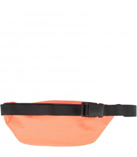 Neon orange kids bum bag with reflective logo