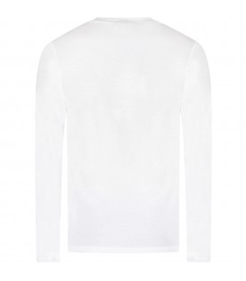 White girl T-shirt with sequined logo