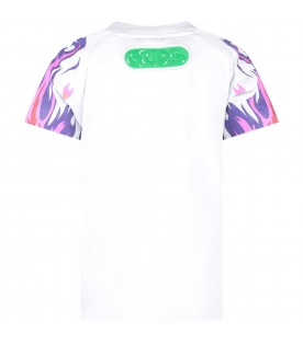 White boy T-shirt with neon green and black logo