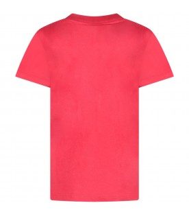 Red boy T-shirt with black and white logo