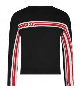 Black boy sweater with red logo