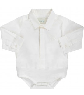 White babyboy shirt with double FF