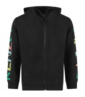 Black sweatshirt with colorful logo for girl